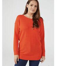 Ruth Langsford Basketweave Knitted Jumper Sunset Medium New Rrp £54