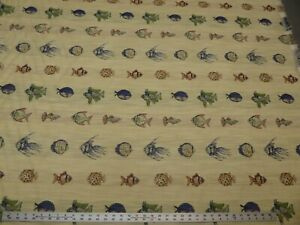Vintage Tropical Fish Tapestry Fabric