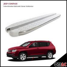 Schwellerrohre Chrom Trittbretter für Jeep Compass 2011 Whiteline (173)