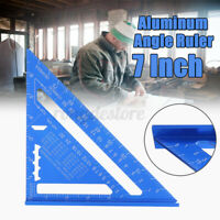 7''Carpenters Roofing Rafters Joiners Aluminium Angle Square Triangle Ruler