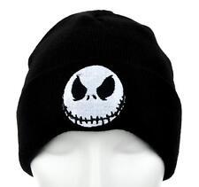 Jack Skellington Evil Grin Cuff Beanie Nightmare Before Christmas Knit Cap Goth