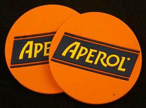 Aperol Gummi Untersetzer Set 2Stk. Bierdeckel Kneipe Gastro Sommer NEU OVP