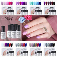 HNM Gel Nail Polish 6 Colors Set UV LED Soak Off Manicure Pedicure Base Top US
