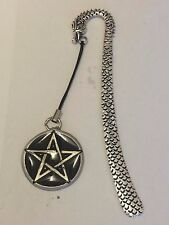BLACK PENTAGON DR60 Made From Fine English Pewter On A DRAGON Bookmark