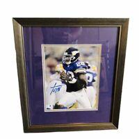 Adrian Peterson Minnesota Vikings Certified Autographed Custom Framed Photo