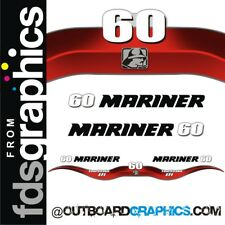 Mariner 60hp 4 stroke EFI outboard decals/sticker kit