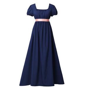 Women Regency Ball Dress Vintage Ball Dress Lady High Waistline Tea Gown Dress