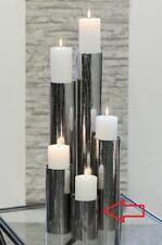 1 x Leuchter Lugano Edelstahl f. Stumpenkerzen Höhe 15 cm, Beleuchtung, Licht