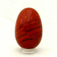 Brecciated Poppy Jasper Egg Polished Red Gemstone Carving 4.5cm 64g