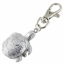 NEW TORTOISE/TURTLE KEYRING/KEY CHAIN PENDANT POCKET FOB WATCH/MINIATURE CLOCK