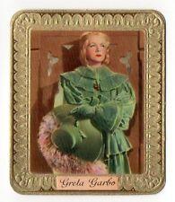 Greta Garbo 1934 Garbaty Film Star Series 2 Embossed Cigarette Card #52