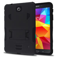"""Heavy Duty Hybrid Combo Box Case Stand for Samsung Galaxy Tab 4 8.0 8"""" SM-T330NU"""