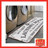 Letter Printed Entrance Doormat Non Slip Kitchen Bathroom Rug Laundry Floor Mat