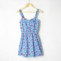 REKO TOPSHOP Retro Tea Dress 50s Bow Pin Up Rockabilly Hearts Bird Swallow 12 40
