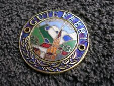 GUTE FAHRT  OBERSDORF CAR BADGE EMBLEM VINTAGE VW BUG COX MERCEDES ACCESSORY NOS