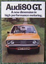 AUDI 80 GT CAR SALES BROCHURE 1975