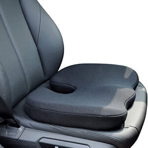Black Memory Foam Hard Seat Cushion Back Pain Relief Chair seat Pillow