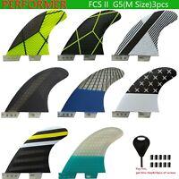 FCS II G5 Performer PC honeycomb inside foil carbon Medium surfboard fins