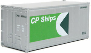 Walthers HO Scale 20' Smooth-Side Container CP Ships (Silver/Green/White)