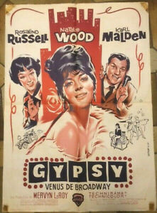 GYPSY - french Movie Poster / Filmplakat Natalie Wood