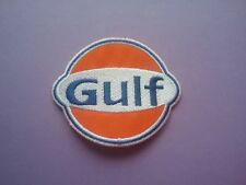 MOTOR RACING OILS FUELS & TYRES SEW ON & IRON ON PATCH:- GULF