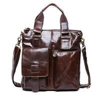 Men's Vintage Genuine Leather Briefcase Handbag Shoulder Messenger Bag Satchel