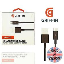 Griffin Micro USB Data Lead Phone Charger Cable Fast Charging Heavy Duty Black