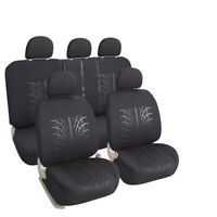 Genenal Faux Leather Black Auto Sideless Seat Covers Full Set Universal for Cars Truck SUV Leader Accessories