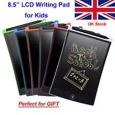"Kids Writing Pad 8.5"" LCD Home Learning Drawing Board Digital Tablet Writing"