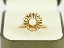 Pearl Ring 9ct Gold Ladies Stunning Size N 1/4 375 3.6g Dj70