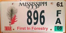 FOREST license plate National Park Wild Animal Natural Habitat Nature #896 Woods