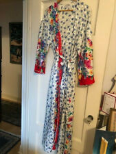 Mary McFadden long silk robe, size S/M, floral print