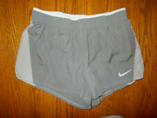 NIKE DRI-FIT GRAY ATHLETIC RUNNING SHORTS WITH LINER WOMENS MEDIUM  EXCELLENT