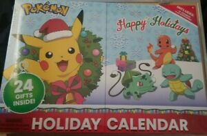 Pokemon ADVENT HOLIDAY CALENDER 24 Gifts RARE PIKACHU Charmander NEW FREE SHIP