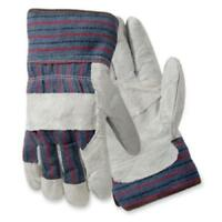 Wells Lamont Palm Gloves - White - Leather - 2/pair (y3401l_35)