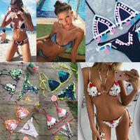 Women Bikini Swimwear Bathing Suit Triangle Swimsuit Bandage Beachwear Brazilian
