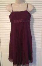MAX & CLEO Womans Size 8 Silk & Chiffon Spaghetti Strap Party Dress NEW $168.00
