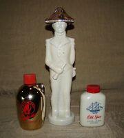 3 Vtg Mens Admiral Old Spice Red Top After Shave Seaforth Cologne Glass Bottles