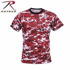 T-Shirt Military Red Digital Camo Short Sleeve Quality Rothco 5434