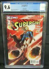 Supergirl #1 (2011) 2nd Printing HTF DC CGC 9.6 X763