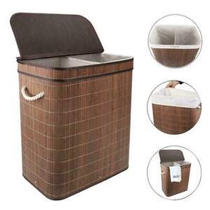 Large Home Laundry Basket Clothes Storage Hamper Bin Bathroom Bag Anti Bacterial