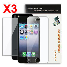 3xReusable Screen Protector -Front&Back Screen Guard for Apple iPhone 5 5S 5C 5G