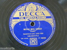 78rpm MANTOVANI music box tango / luxembourg polka