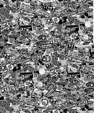 Black & White sticker bombing sheet 1.32 metres x 1.6 metres XXL size