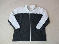VINTAGE Nike Jacket Adult Extra Large Black White Swoosh Windbreaker Coat 90s