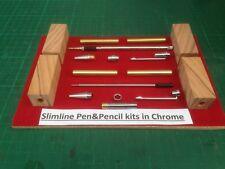 No 9 Extra Special Olive Wood Blanks /& Bush Set Gold Churchill Fountain Pen Kit