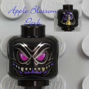 NEW Lego Alien Devil Monster BLACK MINIFIG HEAD - Ninjago Overlord w/Fangs 70728