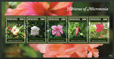 Micronesia 2015 MNH Hibiscus of Micronesia 5v M/S I Flowers Flora Stamps