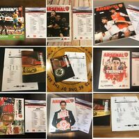 Arsenal Football Programmes 2019/20, Premier League, Europa League, FA Cup, Mint