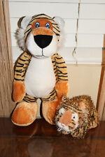 "National Prize Tall Standing Tiger Plushie Stuffed Animal Toy 13"" & Ganz Webkinz"